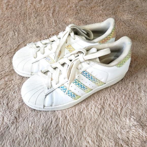 Adidas Superstar Trainers Rainbow Metallic size 4
